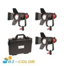 3 Pcs CAME TV Boltzen 30w Fresnel Fanless Focusable LED Bi Color Kit Led video light