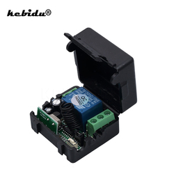 kebidu 433MHz Wireless Remote Control Switch DC12V 10A Telecomando Transmitter with Receiver 433mhz remote control