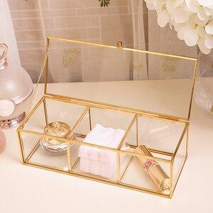 Image 3 - คลาสสิกยุโรปแก้วแต่งหน้าสีทองปกคลุมขอบห้องน้ำแต่งหน้า make up ผลิตภัณฑ์เครื่องสำอางค์