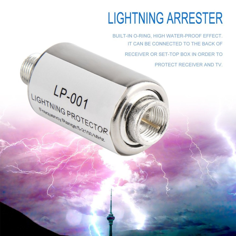 Satellite Antenna  For Free Tv Lightning Protector Uzip Urose Protection Block Of Outlets Lightning Rod Home Smart House Zwave