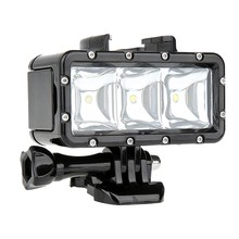 Shoot impermeable 30M luz DE BUCEO Led de relleno para Hero 7 negro plata Blanco/6/5/5S/4/4S/3 +, Campark Akaso Dbpower crossour lo más nuevo(China)
