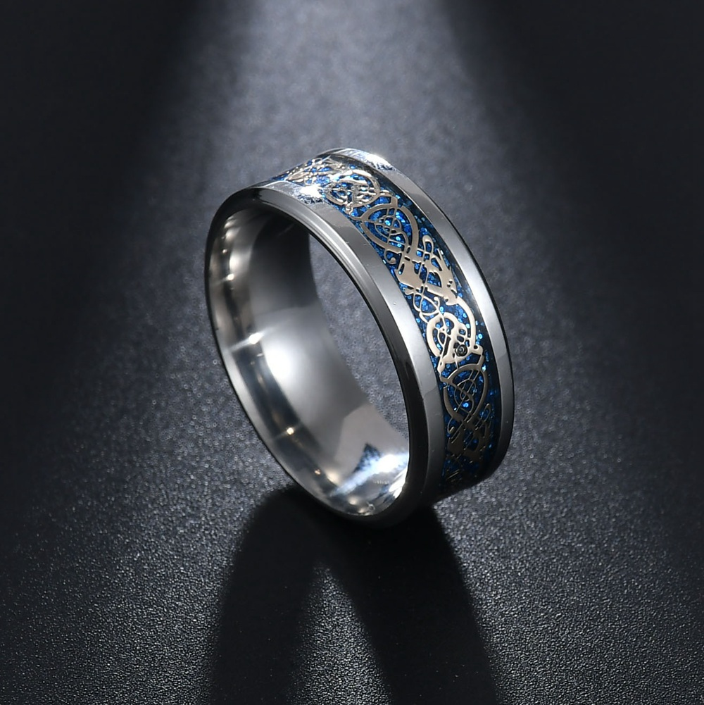 MeMolissa Jewelry New Punk ring for lover Vintage engagement Dragon steel Ring for Men & women Wedding rings 4