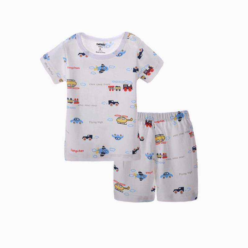 Tryckt klädsel Set 100% Bomull T-shirt + Kortbyxor 6M till 3T - Barnkläder