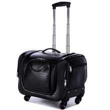 Купить с кэшбэком Women Beautician Travel Suitcase Make Up Organizer Box Case for Cosmetics Bag Storage Luggage Trolley Nails case/Box Travel Bags