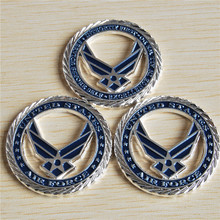 15pcs/lot, United States Air Force Core Values USAF Commemorative coins, Zinc alloy plating Challenge Coin, hollow coin souvenir