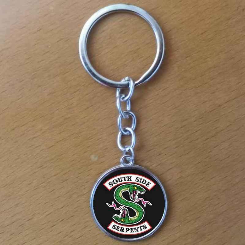 heat! Riverdale Jewelry Mystery Glass Dome Pendant Silver Handmade Keychain, DIY personalizado.