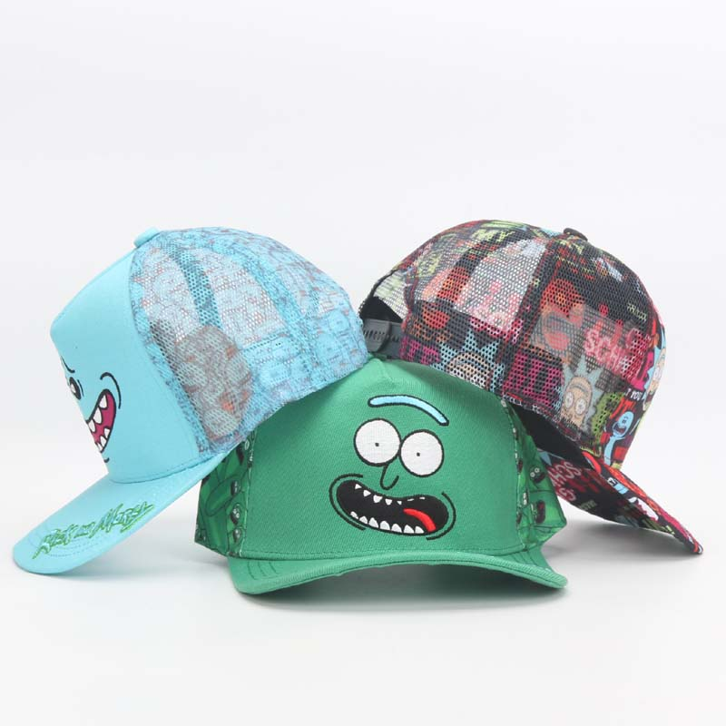 Rick and Morty Hats super mario Caps Adjustable Cotton Baseball hat Cap Snapback The Legend of Zelda Link Hat plush toy 3