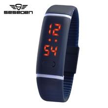 Kipasen New Upgrade Section Waterproof LED Bracelet Children Women Watch Men Digital Wristwatch Sports Shock Fashion Clock