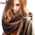 Fashion Scarves Wraps Coffee Black Cotton Solid Color Russia Winter Knitted Scarves Women Men Fashion Christmas Gifts W3007