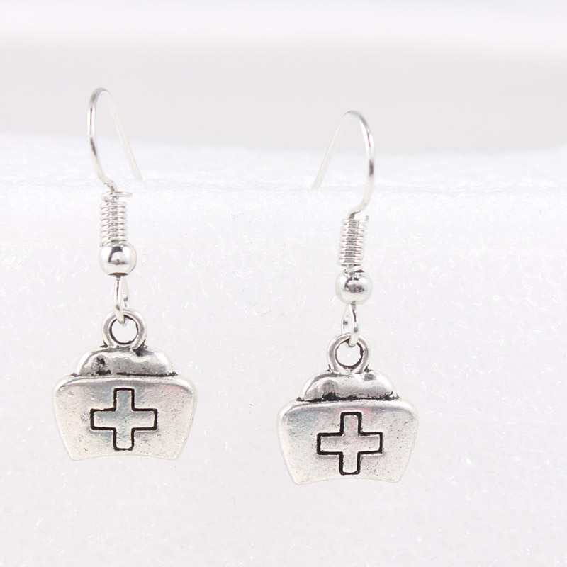 Cross Drop Earrings Silver Christmas Charms Dangle For Women Men Jewelry Making Shipping In From Accessories