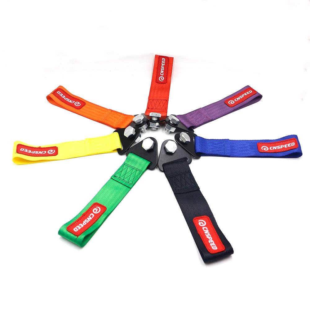CNSPEED Racing Auto Hohe Qualität tow strap/tow seile/Haken/Abschleppen Bars (rot blau lila orange schwarz gelb grün)