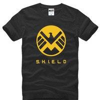 에이전트 S.H.I.E.L.D. 방패 독수리 인쇄 T 셔츠 남성 여름 짧은 소매 O 목 남성 T 셔츠 남성 최고 티 팬