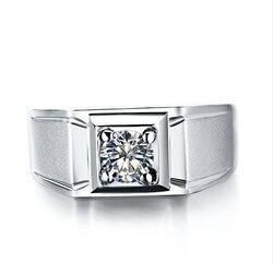 1 karat czystego złota 585 klasyczne okrągłe tajemnicy syntetyczne diamenty pierścionek zaręczynowy dla mężczyzn romantyczny pierścionek zaręczynowy biżuteria dla niej