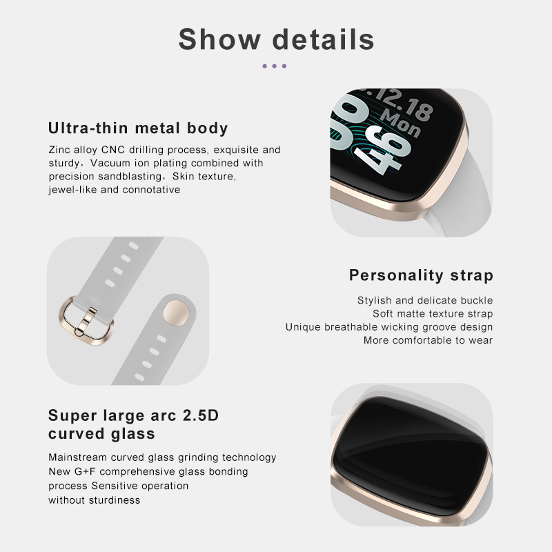 Image 5 - Women Smart Watch Sport Fitness Tracker Heart Rate Monitor Smartwatch Bluetooth Music Control Waterproof Watch For Android-in Smart Watches from Consumer Electronics