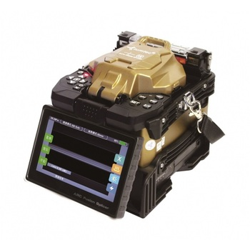 6 motor pantalla táctil empalmador de fusión Tumtec-V9 máquina de empalme de fibra óptica