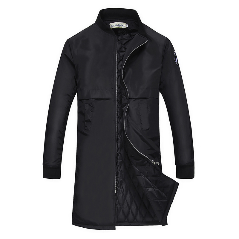 YuWaiJiaRen Mens Parkas Stand Collar Jackets Winter Cotton Overcoats Casual Long Mens Cl ...