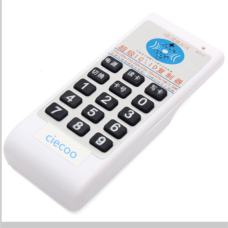 English ver Handheld 125Khz-13.56MHZ more frequecny access RFID card Duplicator/Copier +T5577 tag +UID changeable Rewritable key handhold 125khz 13 56mhz id ic rfid card copier duplicator reader write 9 frequecny compatible m4305 5200 t5577 uid
