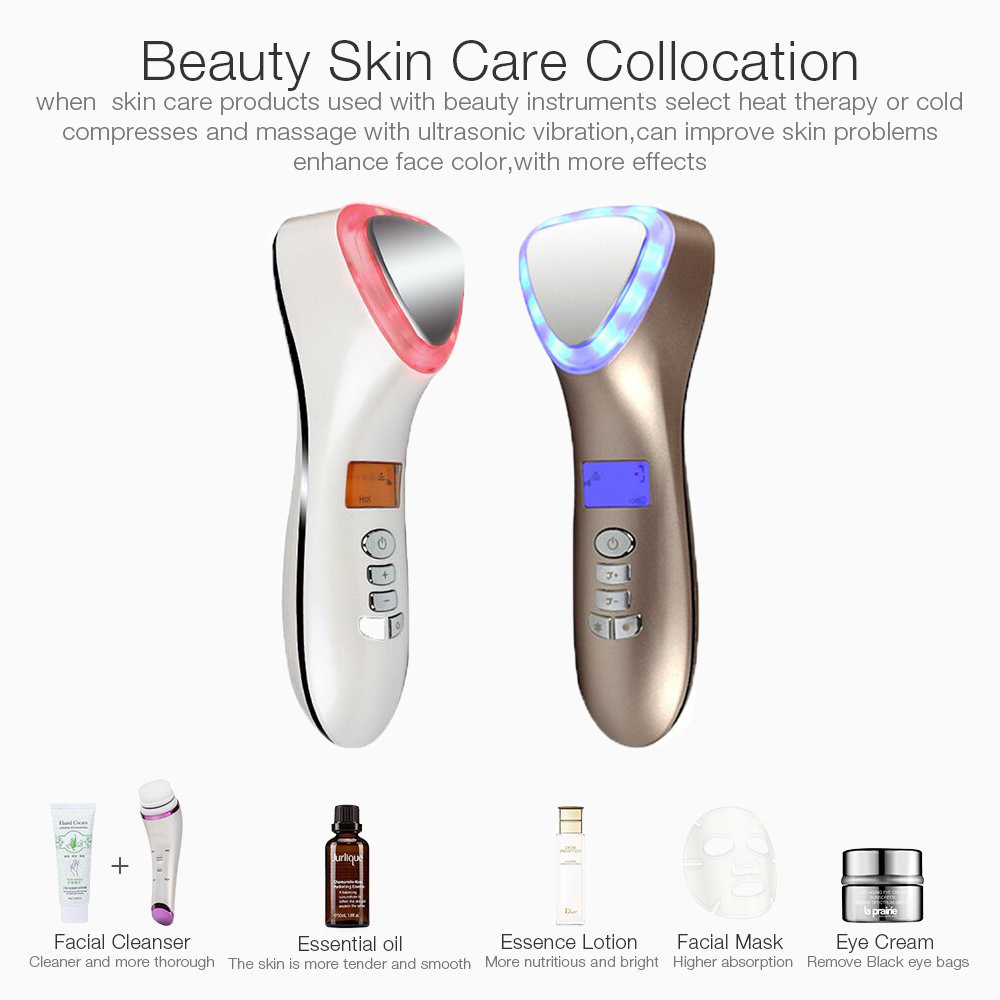 Image 3 - Hot Cold Hammer Cryotherapy Face Lifting Electric anti aging Skin Tightening Device Skin Rejuvenation Spa Facial Massager hifu-in Face Skin Care Tools from Beauty & Health