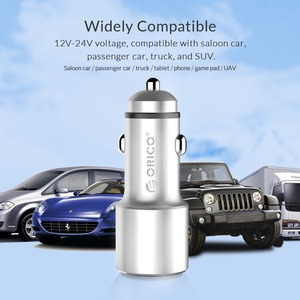 Image 5 - ORICO USB Car Charger with Mini Size 2 Ports Universal Quick Fast Car Charger for Xiaomi Car Charger for Huawei for iPhone X