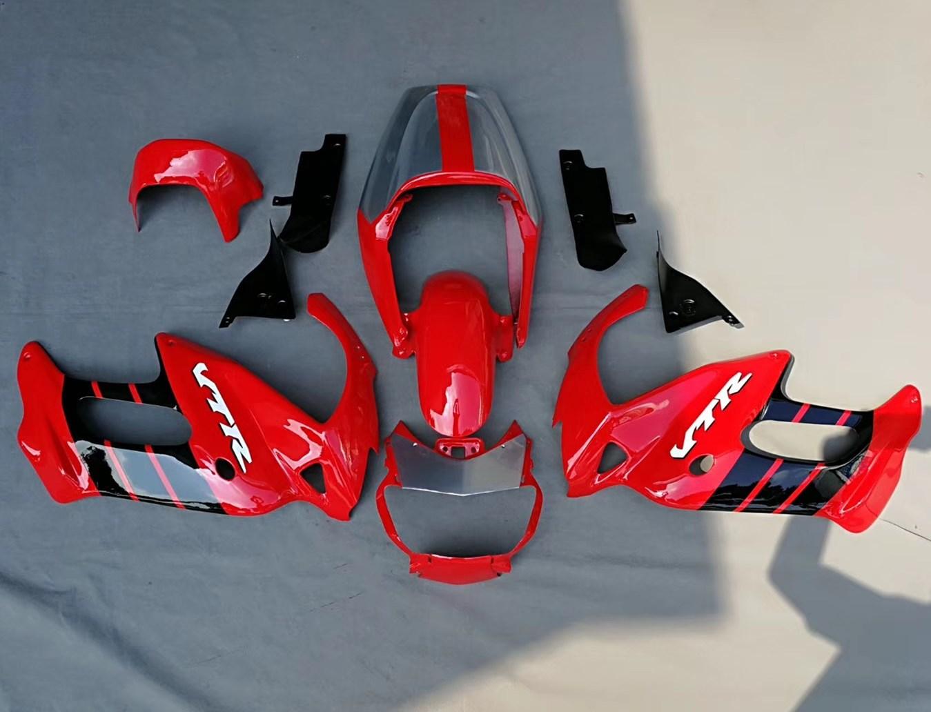 Motorcycle Fairing Kit Bodywork For Honda VTR1000F VTR 1000F 1997 - 2005 VTR 1000 F 97 -05 Red Fairings Cowl Injection Molding hot sales for honda vtr1000f 1997 2005 vtr 1000 f 97 98 99 00 01 02 03 04 05 vtr1000 f red aftermaket abs motorcycle fairing kit