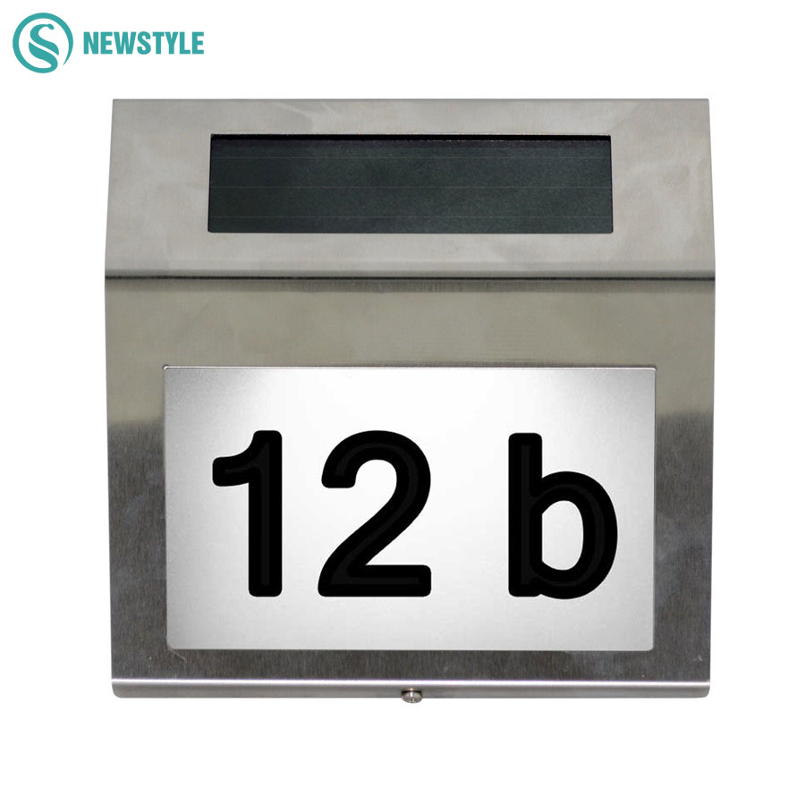 Outdoor Lighting Doorplate Solar Lamp Waterproof IP65 Led solar light of Outdoor House Number Solar Apartment Number Light