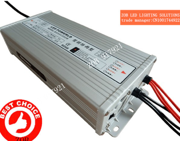 [ZOB]The new power supply aluminum profiles 400W-24V-16.6A  rain LED power supply factory direct