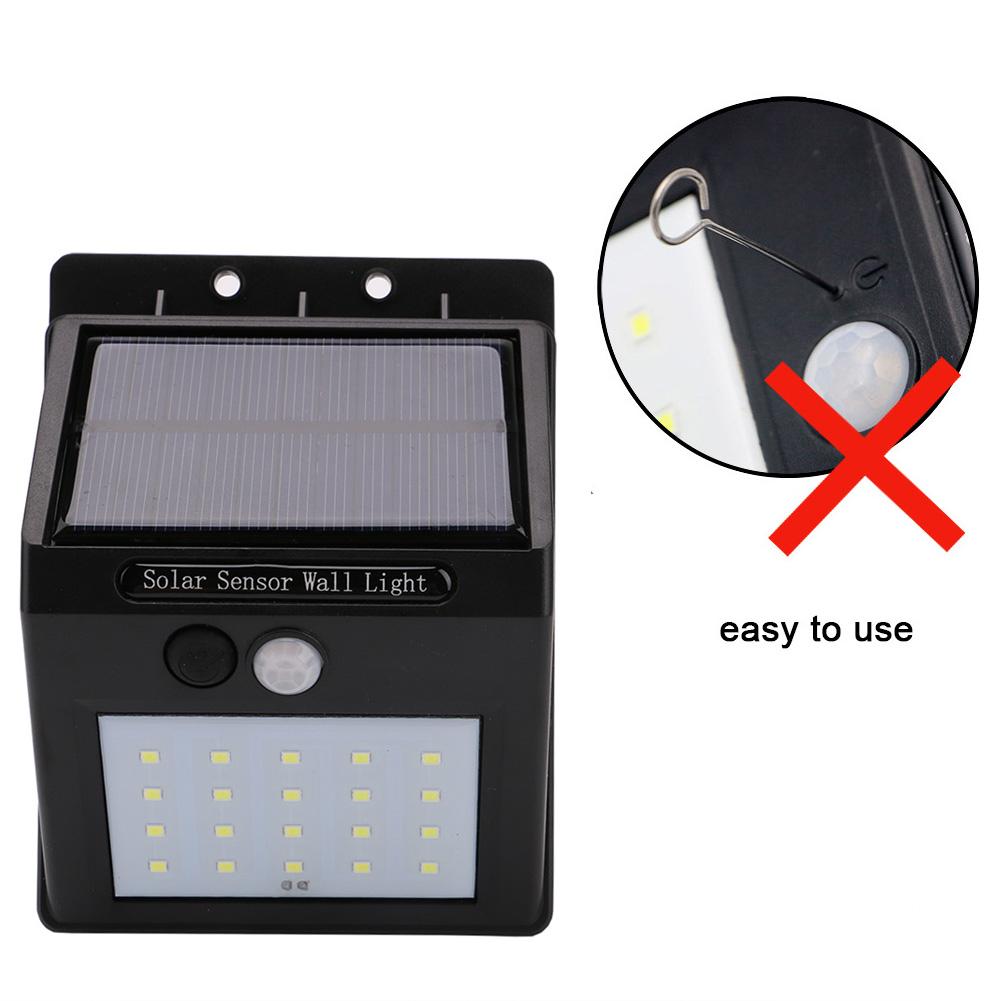 led de energa solar pir sensor de movimiento interruptor de pared de luz al aire libre
