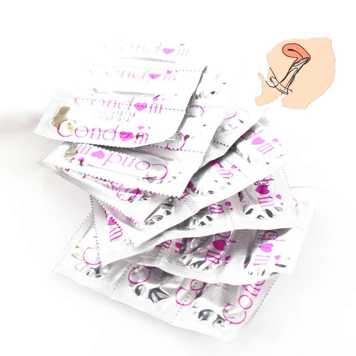 Baru Kondom 1 Pcs Ultra Tipis Ayam Kondom Intim Barang Produk Seks Lateks Karet Alam Penis Lengan Seks untuk Pria 0.09 $/1 Pcs