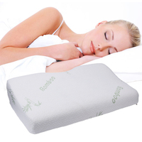Contour Rebound Memory Foam Pillow Bamboo Fiber Health Head Neck Support Massage Foam Pillow Home