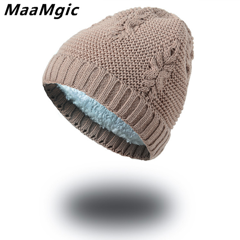 New Fashion hats for Men Women Unisex Warm Winter Hat Cotton Cartoon Knitted Skuilles Beanies For Boys Girls hat Brand Fur Cap