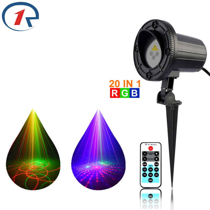 ZjRight IR Remote RGB 20 patterns laser stage light Waterproof Outdoor garden party lights Bar dj ktv Projector Xmas tree lights zjright laser light ir remote red green christmas lights outdoor waterproof garden lamp park party bar dj disco halloween lights