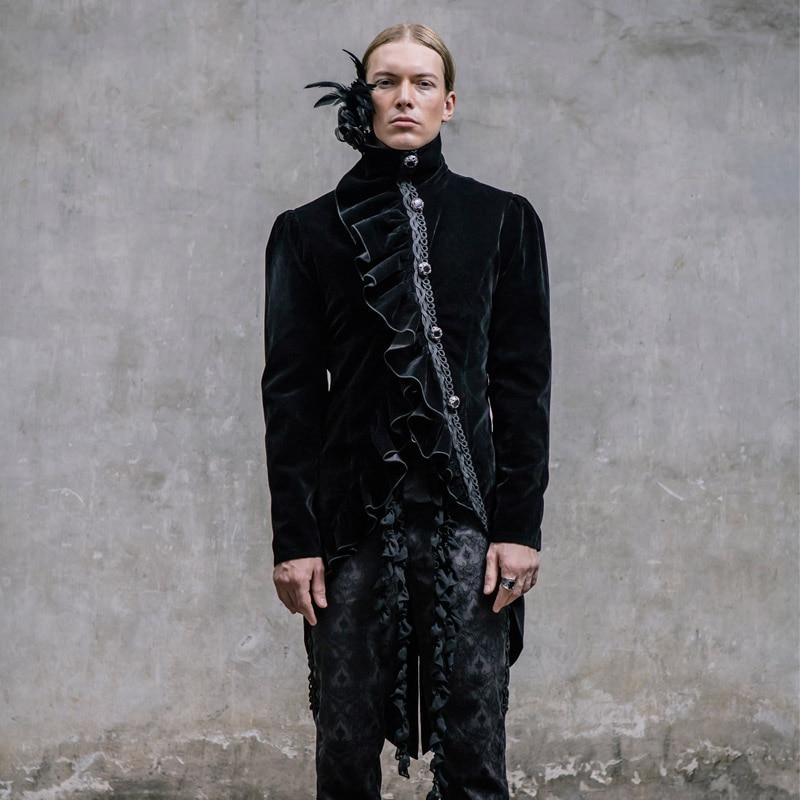 Devil Fashion Gothic Palace Wind Gentleman Dress Swallowtail - Ropa de hombre