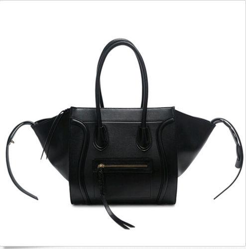 Fashion Womens Leather Tote Shopper Handbag Tassel Satchel Smile Bag Shoulder Purse 4Colors new top fashion 1pc womens leather shoulder bag satchel handbag tote hobo messenger 100
