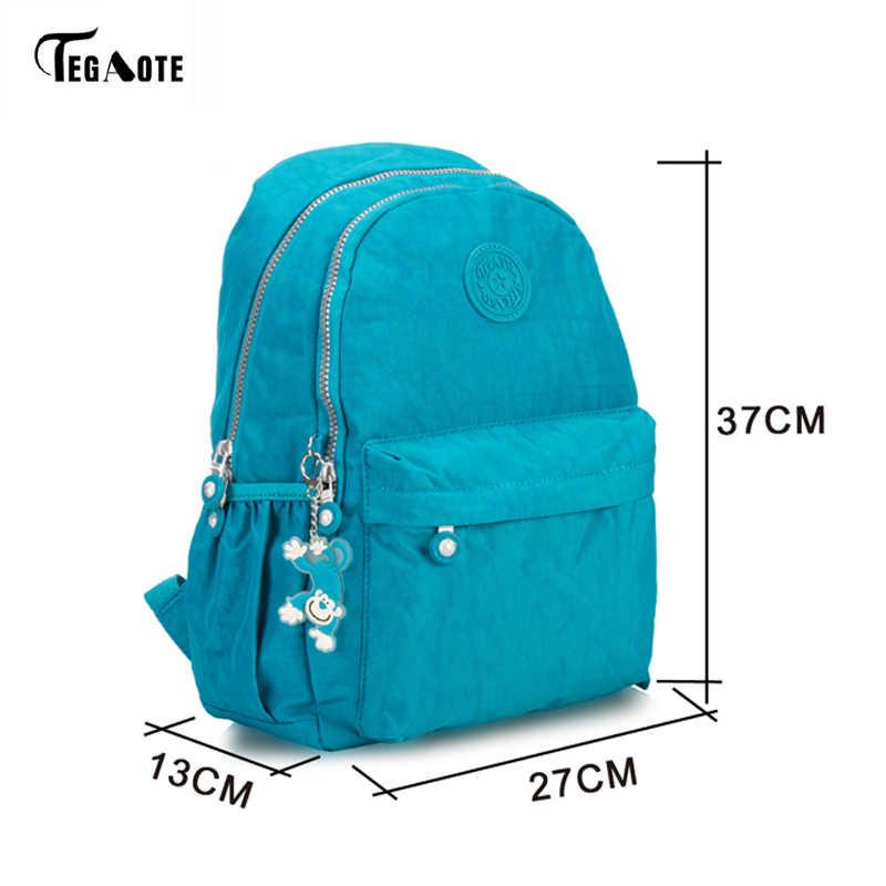 ... TEGAOTE Light Nylon Waterproof School Backpack for Teenage Girls Mini  Student Bookbag Mochila Feminine Backpacks Leopard 30121e2bcda68