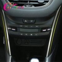 Kleur Mijn Leven Auto Centrale Controle Airconditioning Side Decoratie Bright Strips Fit voor Peugeot 2008 2014 2019 Auto accessoires-in Interieurlijsten van Auto´s & Motoren op
