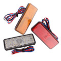 12V LED Reflector Rear Tail Brake Stop Marker Light Truck Lorry Trailer SUV RV Size 90mm x 33mm x 9.5mm 2pc