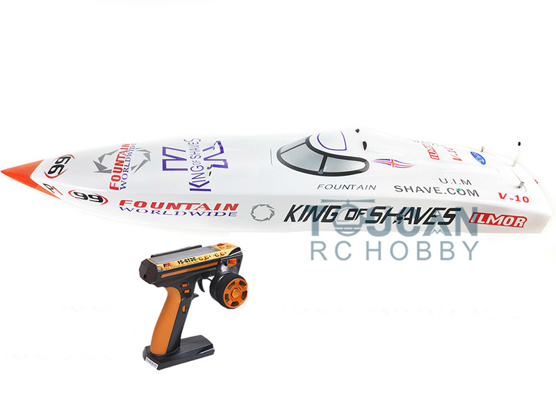 G26IP1 ARTR-RC Fiber Glass 26CC Gasoline Racing Speed RC Boat W/ Propeller/Water Cooling system/Radio System White h625 pnp spike fiber glass electric racing speed boat deep vee rc boat w 3350kv brushless motor 90a esc servo green