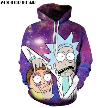 Rick and Morty Full 3d Print Classic Hoodie