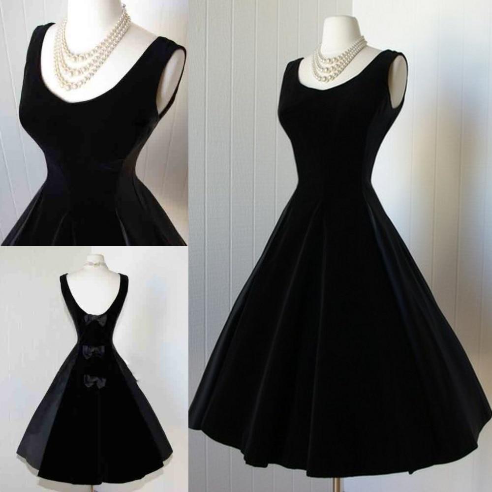 Vestido de graduacion negro corto
