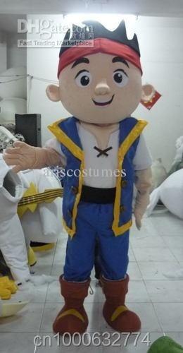 jake the neverland pirates mascot costume carnival costumes mascot suit custom mascot dress fancy dress costumes party costumes