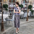 Free Shipping Long Cheongsam Qipao Traditional Chinese Dress  Long Qipao dress for sale Chinese Qipao dress 3 Color