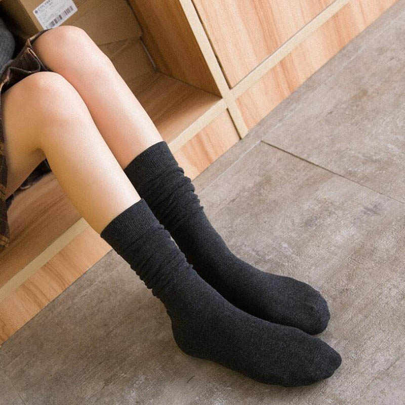 c78db7880 ... BllooBeell Women's Socks Knee-High Cute Long Cotton Socks for Women  Autumn Winter School Girl ...