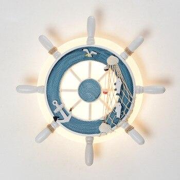 Creative helmsman LED Wall Lamp Children's Bedroom bedside Wall Sconce living room bedroom simple Indoor Lighting lamp