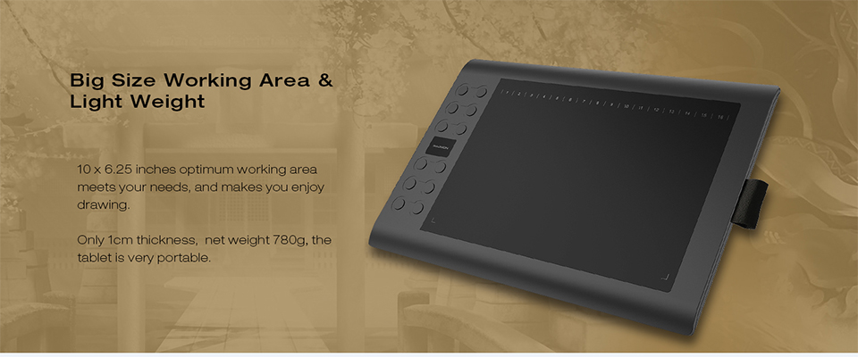 USD 割引価格 M106K 急行キーペンタブレットデジタルグラフィックボードで描画するためのペンホルダー 9