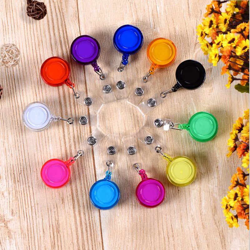 New Arrival 1 Piece High Quality ABS Retractable Nurse Badge Reel Candy Colors Doctor Students IC  ID Card Badge Holder