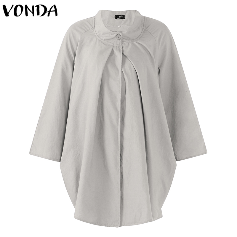 7cd7ab2355d59 Detail Feedback Questions about VONDA Women Pregnant Casual Blouses 2018  Autumn O Neck Long Sleeve Shirts Plus Size Loose Asymmetrical Blusas  Maternity ...