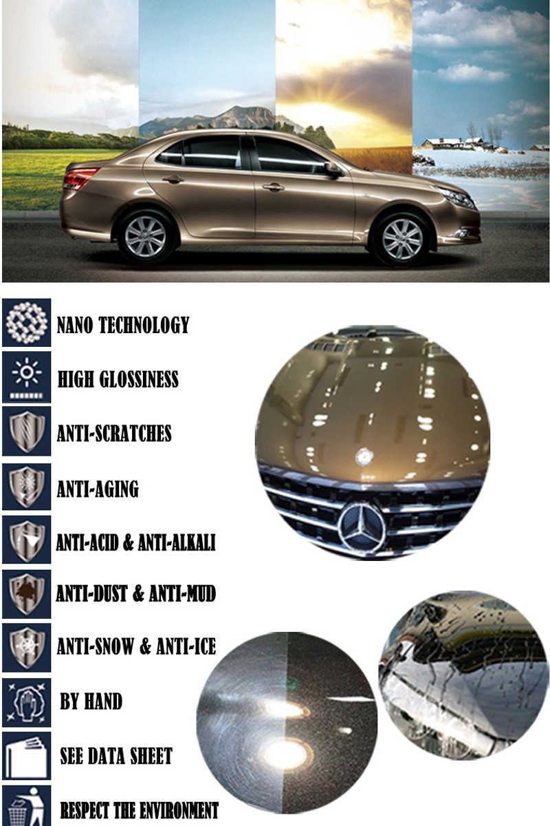 Best Car Ceramic Coating Wax - Glass Crystal Coating 9H Car Care