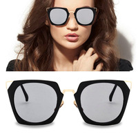 Retro Metal Anti UV Fashion Square Sunglasses Black Big Size Frame Men Women Vintage SunGlasses Eyewear Gafas De Sol Ochiki