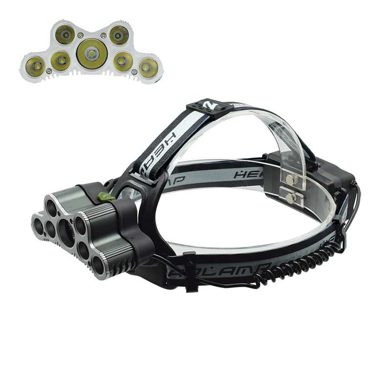5*T6 LED + 2*XPE LED Headlamp 7 LED Frontal Headlight USB Power Rechargeable 6 Mode Head Light Hunting Emergency Light Outdoor