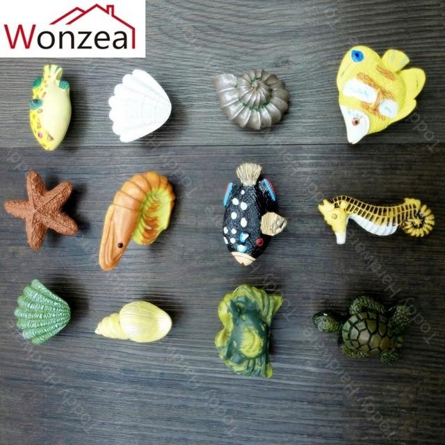 Ozean Stil Harz Cartoon Mobel Griffe Tur Kommode Pull Gummi Kind